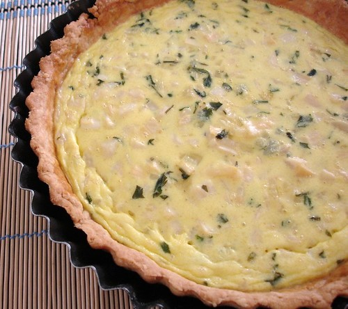 Hearts of palm quiche