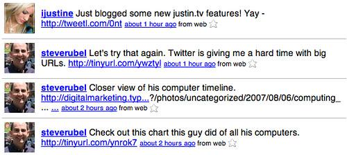 Twitter on Twitter Long URLS