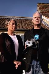 The Cox's (the_steve_cox) Tags: camera portrait woman man bristol holding couple bitton americangothic coxy gothick photoportunitycom