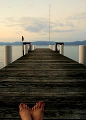 Lake Tahoe (microabi) Tags: red summer lake holiday feet toes jetty relaxing tahoe feeling nailpolish enjoying theviews