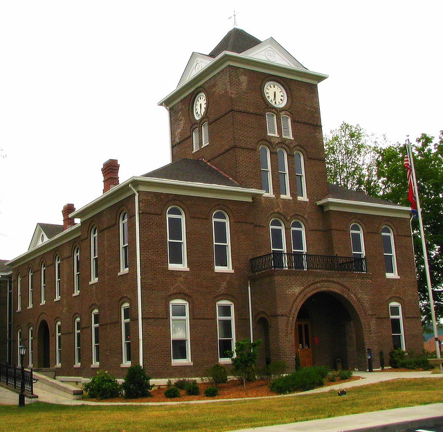 Meigs County Courthouse - Old part in the back
