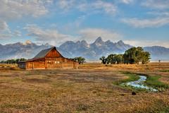 "moulton barn (Matt ""Linus"" Ottosen) Tags: wyoming tetons grandteton hdr grandtetonnationalpark photomatix mormonrow singlejpg moultonbarn"