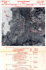 Devonport Map (Photo) (Plymouth Libraries) Tags: cornwall map aircraft nazi plymouth aerial devon photograph german target bomb blitz bombing reich devonport secondworldwar stonehouse luftwaffe plymstock saltash torpoint