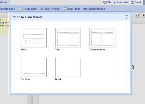 Look, Slide Options in Google Docs!