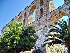 South (Emilofero) Tags: bridge orange tree water stone fruit palm supershot abigfave