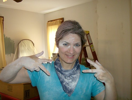 The Marie Antoinette look!  I hate sanding drywall mud!!