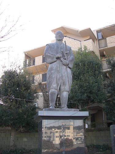 塚原卜伝像/Tsukahara Bokuden's statue