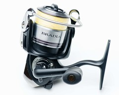 Team Daiwa Bradia Reel. SB800 through Lastolite Umbrella Box and SB800 through LumiQuest Softbox III