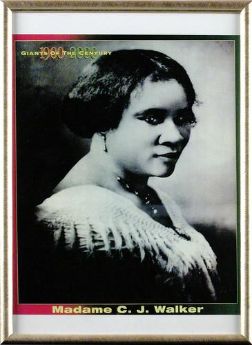Portrait of Madame C. J. Walker, framed photography