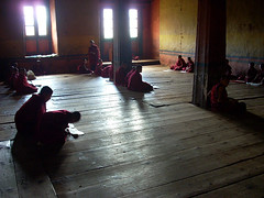 Bhutan monks class (conci 3000) Tags: school light bhutan prayer meditation lesson youngmonks abigfave conci3000