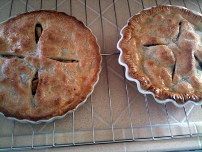 Cooling Apple Pies