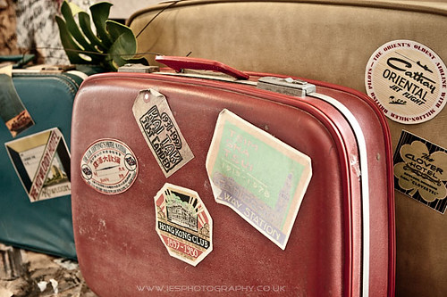 Old Luggage Suitcases in Hong Kong