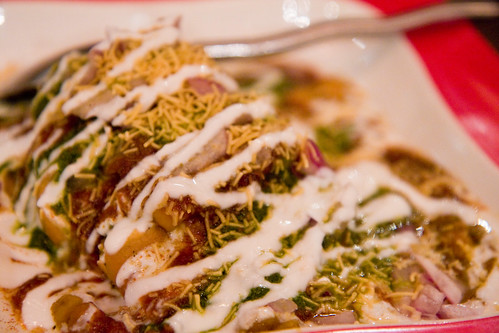 Samosa chole chaat, Bhojan