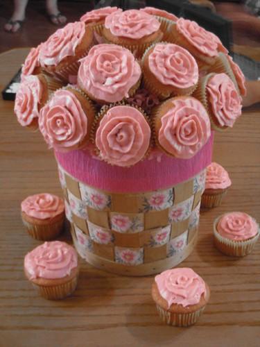 Large Floral Cupcake