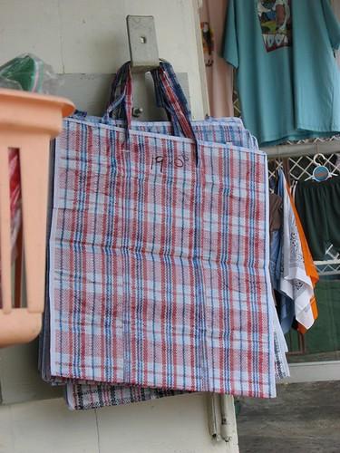 Tobago plaid bag, Guyanese Samsonite by Georgia Popplewell