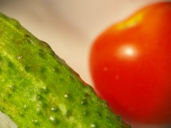 The Couple () Tags: macro tomato couple waterdrop cucumber thecouple