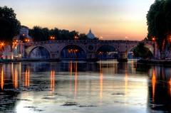Il Cupolone f capolino (valerius25) Tags: italy vatican rome roma canon reflections river italia fiume ciao vaticano tevere digitalrebel riflessi hdr italians damncool 5xp 400d valerius25 valeriocaddeu
