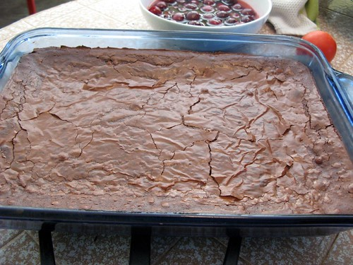 crackly brownies