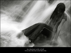 An Abstract with A Fall (rkmenon) Tags: portrait abstract art fall trek canon painting eos 50mm waterfall strokes ravi portraiture bombay maharashtra 18 mumbai streaks peth rekha rkmenon