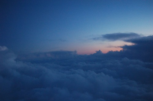 Flying near the thunderstorm