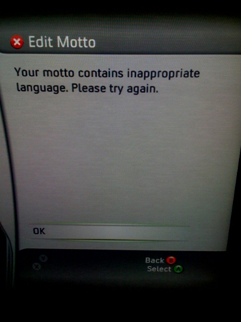 LINUX is inappropriate language