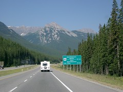 Trans Canada Highway #2 (palestrina55) Tags: canada mountains 2004 sign landscape highway alberta rockymountains caravan transcanadahighway kanada banffnationalpark cans2s palestrina55