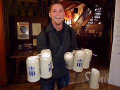 These mugs are quite heavy (jensiuk) Tags: city vacation urban beer germany munich deutschland bavaria europe urlaub september stadt finepix hofbrauhaus mug fujifilm muenchen krug 2007 s6000 jensiuk