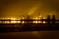 Fiddlers Ferry Power Station at Night (MarkLandonPhotography) Tags: christmas longexposure family night photoshop canon eos cheshire powerstation lightroom loggerheads runcorn widnes fiddlersferry grimupnorth 40d efs1755mmf28 widnesruncornbridge lightroom2