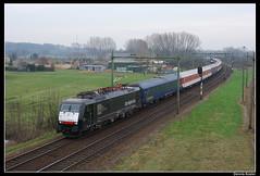 MRCE189 092+300_Lak_15032008 (Dennis Koster) Tags: amsterdam 300 trein lunetten cnl citynightline mrce br189 personentrein 189092 passagierstrein