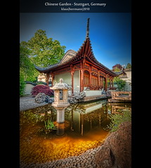 Chinese Garden - Stuttgart, Germany (HDR) (farbspiel) Tags: sea lake colour reflection water colors architecture photoshop reflections germany geotagged photography see pond nikon colorful wasser colours stuttgart tripod wideangle colourful chinesegarden teich dri deu hdr highdynamicrange farben superwideangle 10mm postprocessing badenwürttemberg tümpel dynamicrangeincrease ultrawideangle d90 photomatix chinesischergarten tonemapped tonemapping farbenpracht detailenhancer stuttgartmitte topazadjust topazdenoise klausherrmann topazsoftware sigma1020mmf35exdchsm topazphotoshopbundle geo:lat=4878708182 geo:lon=917589068