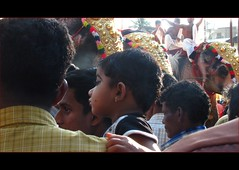 what's that, dad? (Trilok Rangan) Tags: light elephant festival temple panchavadyam melam mahout chenda vilakku pazhayannur bhagavathy thidambu niramala panchari