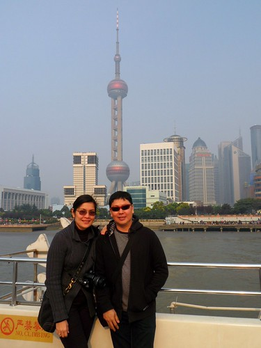Cruising on the Bund (Oriental Pearl TV Tower in the background)