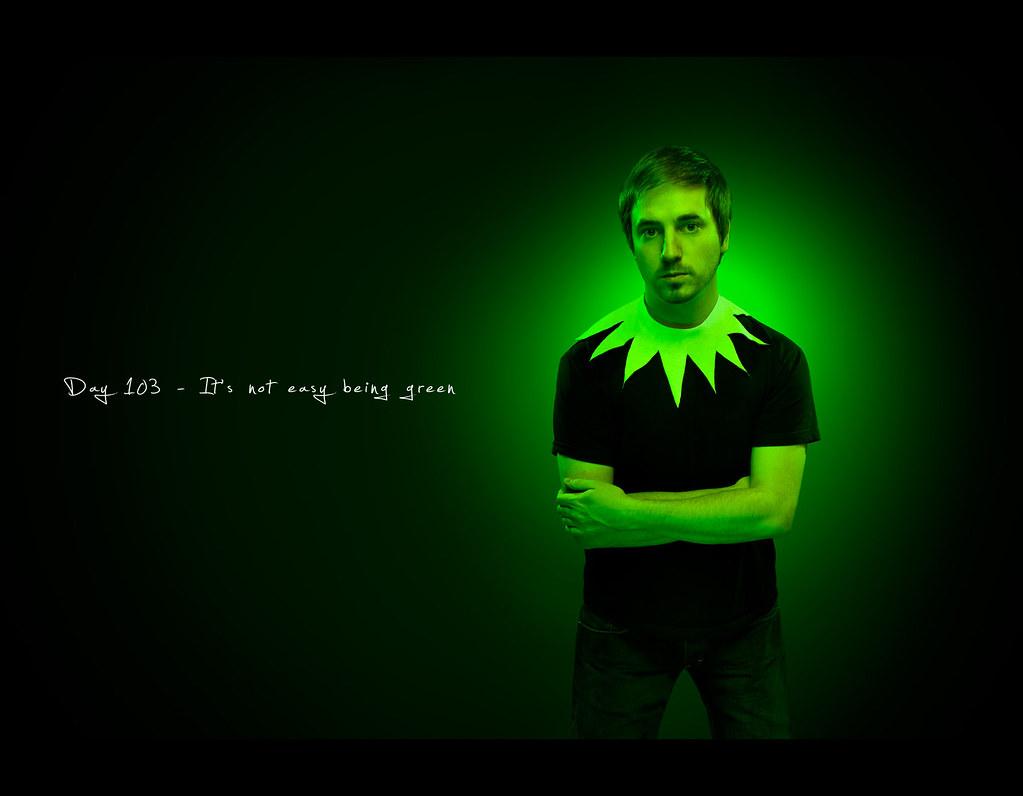 Day 103, 103/365, Project 365, Strobist, Self Portrait, project365, ourdailychallenge, green,