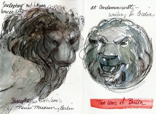 Berlin, two lions