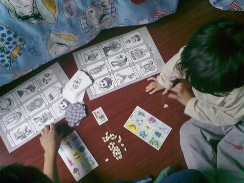 Jugando lotería