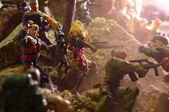 Taking Turtle Mountain (Dudesnbots) Tags: black rock dave lady scott jack cobra action cent stevens n joe jeremy figure roll marshal izzy hitech diorama gi gaga eminem fifty grohl shockey mathers stradlin