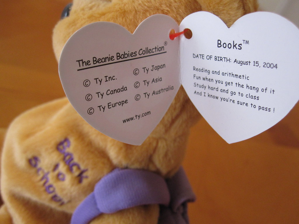 Ty Books the Bear Beanie Baby in Purple Hang Tag (jessicagreen0202) Tags   bear 69835104c0ce