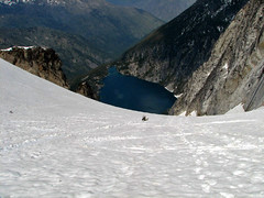 wildernessed glissading down Colchuck Glacier.