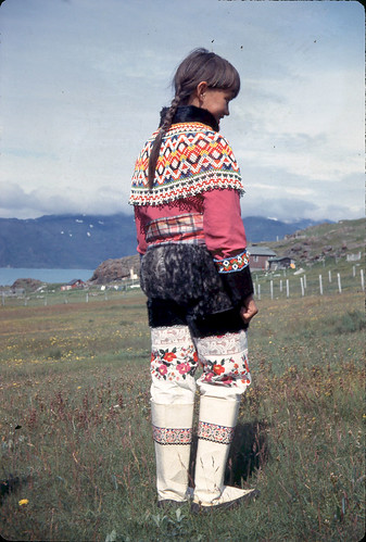 Inuit girl in her native costume