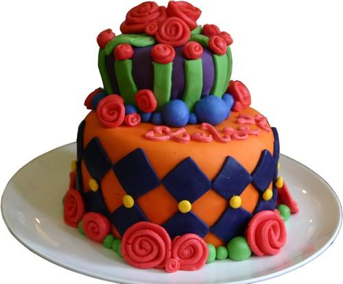 Whimsical Fondant Cake - Front