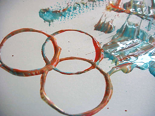 curler painting: rings