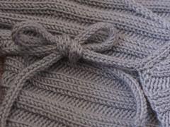 Clementine's baby kimono i-cord tie #3