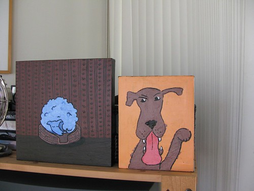 I was so proud of myself for finishing TWO paintings in one day