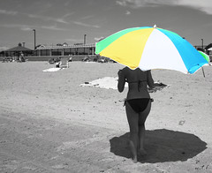 Beauty & the Beach (wtl photography) Tags: new york bw beach beauty umbrella cutout island sand long mare italians bellezza ombrellone wtl outstandingshots interphotochallengewinner