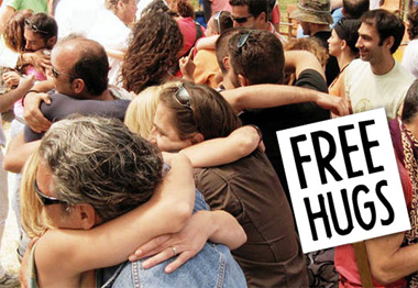 Free Hugs - calins gratuits)