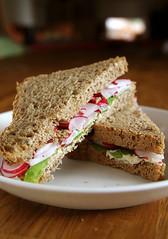 Radish & Mint Sandwich (deinin) Tags: food sandwich radish