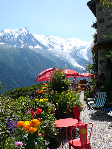 The Terrace at Chalet Floria, Chamonix