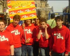 Boys in the hoodies...