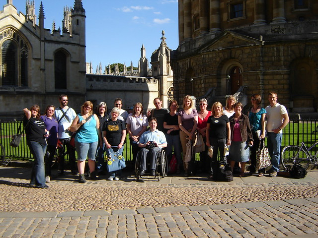 The Gang outside Radcliffe Camera