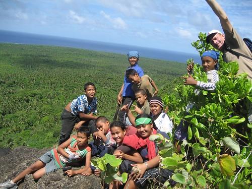 hike with Lo, Lemoto,Salesi, Moses, Helen, Tiu, Paki, Niko, Peter and friends